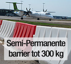 Kunststof barriers voor infra, eigen terrein en magazijn